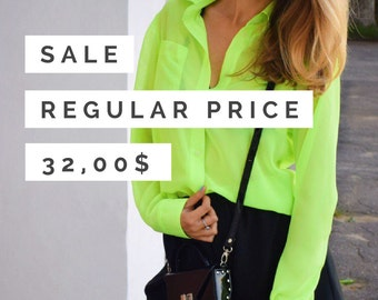 SALE Neon yellow shirt
