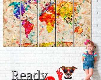 World Map, World Map Poster, World Map Art Canvas, World Map Canvas, Large world map art, World map wall art, Abstract World Map, Home decor