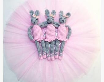 MADE TO ORDER - Crochet Ballerina Bunny