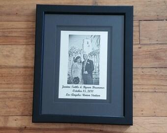 Wedding Mirror: Event Details + Custom Photo