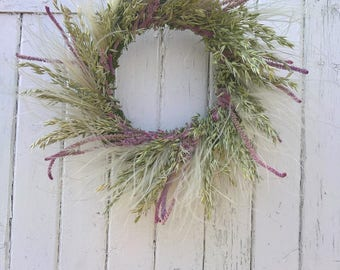 Summer Meadow Dried Flower Wreath, wedding wreath, wedding decoration, dried roses, summer wreath, dried flowers, rustic wedding