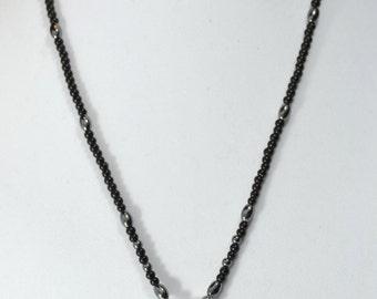 Crown Mask Pendant black necklace