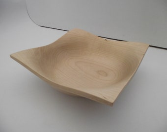 Square Maple Bowl