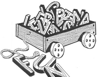 """Wagon and Words #906 - Woodworking / Craft Pattern """"ON SALE"""""""
