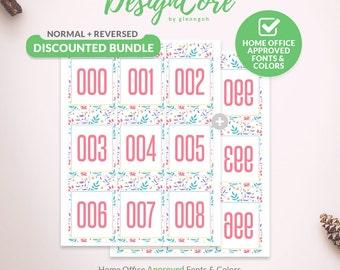 Facebook Live Sale Bundle Reversed Mirrored Normal Number Tag, 000, 999, Home Office Approved, Floral, Instant Download, Retailer, DCLSTB003