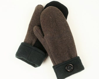 Mitaines en laine recyclées - upcycled wool mittens
