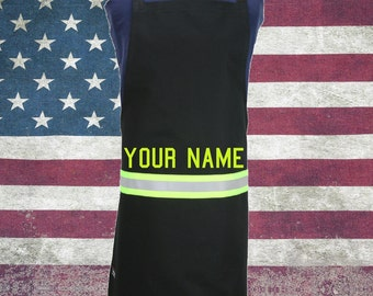 Firefighter Chef BLACK Turn-out Gear Apron