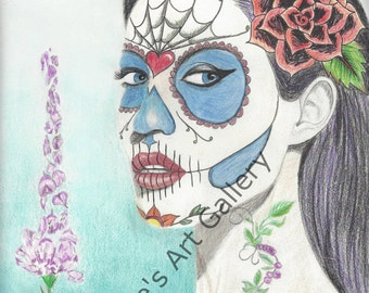 Jolie Day Of The Dead Printable Art