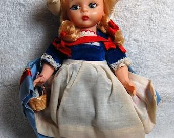"""Vintage Madame Alexander """"Dutch"""" porcelain doll."""