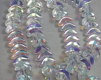 Czech Glass Angel Wings 14×6×5mm 25 Beads
