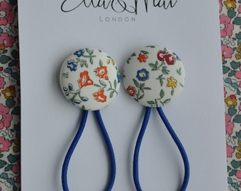 Liberty of London Hair Bobbles, Girls Hair ties, Sweet Meadow liberty, Party bags