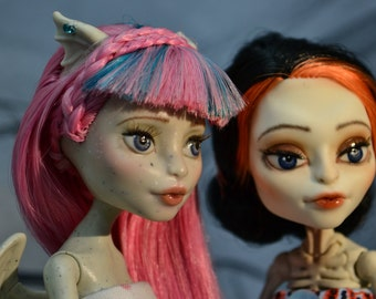 20% OFF sale - Monster high doll ooak repaint - Angel & Devil