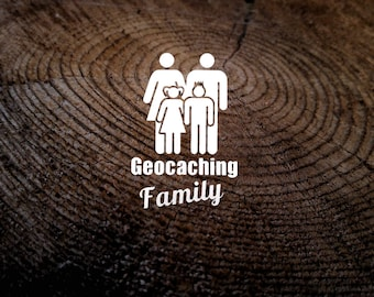Geocaching Family Car Decal
