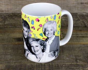Golden Girls MUG dorothy blanche rose sophia Thank You for Being a Friend gifts for HER gay icons Pride