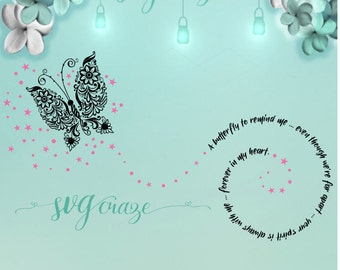 Butterfly Remind Me / Butterfly SVG / Butterfly / In Memory of / Loss of loved one / Sympathy Gift / Butterfly DXF / Butterfly PNG