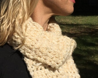 Hand-made crochet scarf