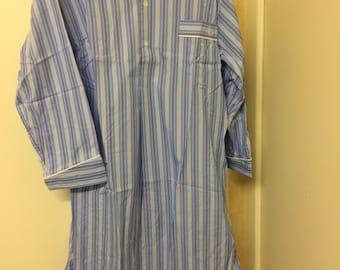 Blue Belsay Fabric Long Nightshirt SALE