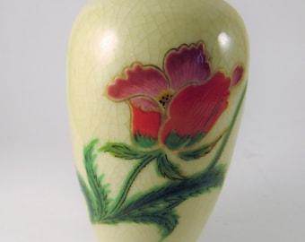 Vintage Homeco Home Interior Bud Flower Floral Vase Purple Red Green