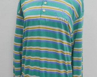 TRUSSARDI Shirt Vintage 90's TRUSSARDI Long Sleeve Stripes Shirt Size M