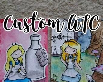 Custom ATC (Artist Trading Card)/ ACEO / Kakao Karte