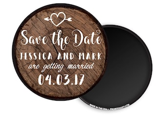 "FREE US SHIPPING 3"" Custom Large Save The Date Magnets Premium Fridge Magnet"