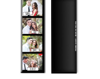 "FREE US SHIPPING Photo Strip 4.5""x1.5"" Save The Date Magnets Premium Fridge Magnet Large Photobooth Save the date"