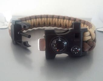 Kit of survival Paracord Bracelet, compass, thermometer...