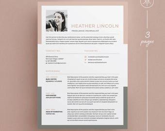 heather resumecv template word photoshop indesign professional resume design - Indesign Resume Template