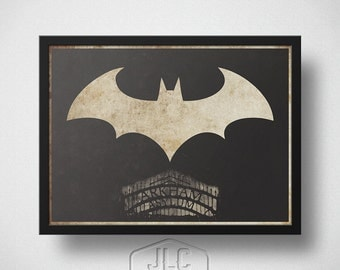 Batman Art Print, Arkham Asylum, The Dark Knight Movie Poster