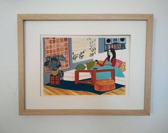 Home Home (Giclée print of an original gouache)