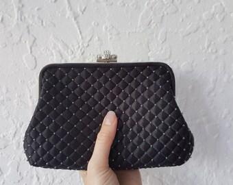 Vintage bag • Beaded Purse • Diamonte • Evening clutch