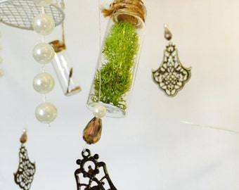 Shabby chic mobile, boho mobile, hanging decor, bedroom decor, nursery decor, mobiles, Earthy and elegant mobile