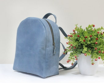 Women LEATHER BACKPACK, Backpack Leather, Women Backpack, Backpack Women, Handmade Backpack, Blue Backpack
