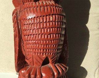 VINTAGE WOOD OWL