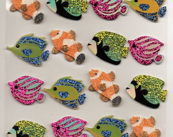 Fish Sea Ocean Lake  Jolee's Boutique Scrapbook Stickers Embellishments Cardmaking Crafts