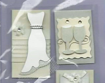 Wedding Tags Toppers 3D Scrapbook Stickers Forever In Time Embellishments Cardmaking Crafts