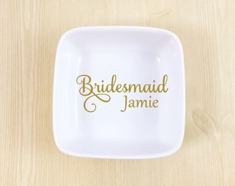 Ring Dish - Bridesmaid Ring Dish - Bridesmaid Proposal Gift - Gift for Bridesmaid - Bridal Party Ring Dish - Wedding Party Gift - Bridesmaid