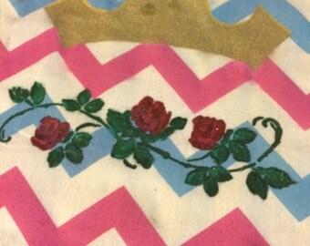 Rose Princess Pillow, Pillow Cover, or Wall Hanging