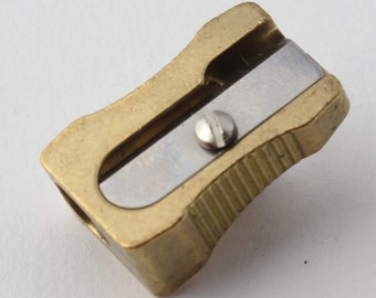 DUX 4235 Wedge Brass Pencil Sharpener