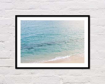 Ocean Print, Beach Photo, Tropical Print, Printable Wall Art, Modern Coastal Decor, Blue Water, Ocean Photography, Digital Download