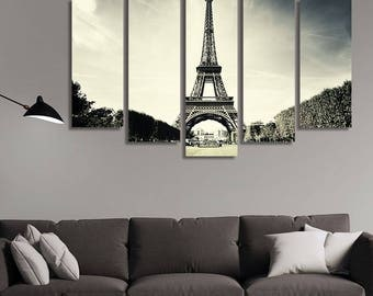 LARGE XL Eiffel Tower, Paris, France Canvas Wall Art Print Home Decoration - STRETCHED