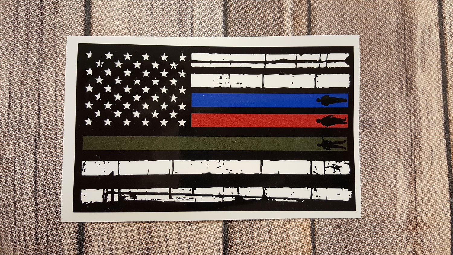Usa Flag Firefighter Police Military Decal Support Usa Flag
