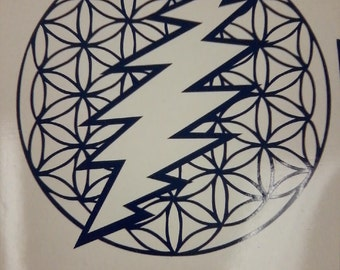 13 Point Bolt w/Flower of Life Vinyl Decal