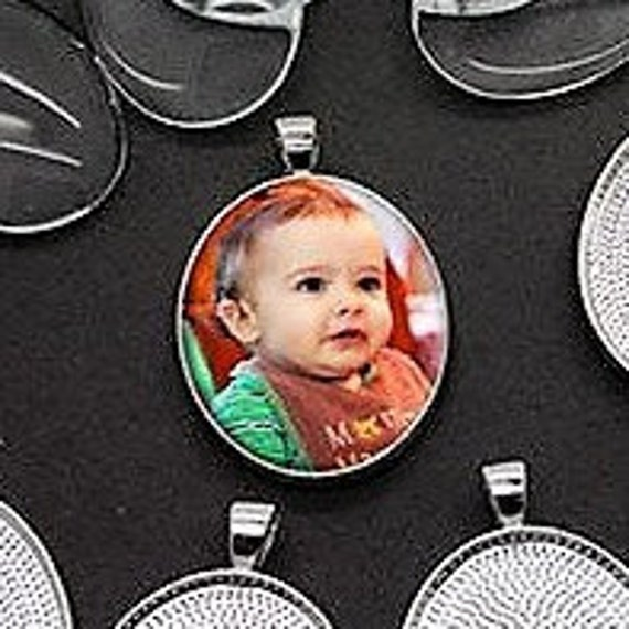 Personalized Photo Silver-Plated Charm Necklace