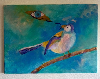 Eye On the Sparrow 16x12