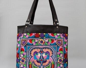 Multi Birds BOH Shopper Tote handbag