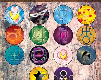 Sailor Moon Buttons (Set)