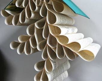 Tolkien Book Mobile - Hanging Book Art - Book Art Sculpture - Upcycled Home Decor - Paper Folding - Hanging Sculpture - Unique Gift