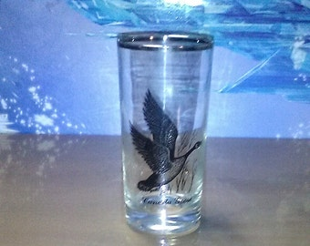 Vintage Canada Goose Drinking Glass