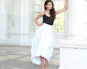 White skirt, Wedding Skirt, Circular Cut Skirt,  Summer skirt, Cotton skirt,Long skirt, Bridal skirt, Maxi skirt, Floor length skirt